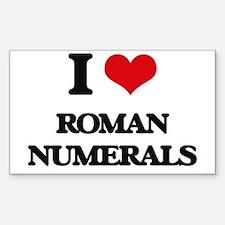 I Love Roman Numerals Decal