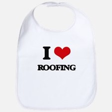 I Love Roofing Bib