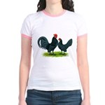 Blue Dutch Chickens Jr. Ringer T-Shirt