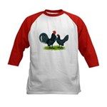 Blue Dutch Chickens Kids Baseball Jersey