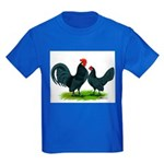 Blue Dutch Chickens Kids Dark T-Shirt