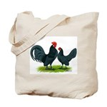 Blue Dutch Chickens Tote Bag