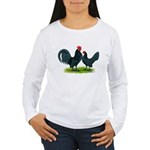 Blue Dutch Chickens Women's Long Sleeve T-Shirt