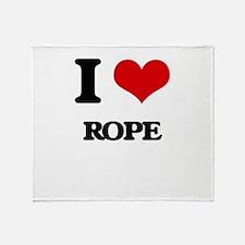 I Love Rope Throw Blanket