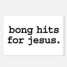 bong hits for jesus. Postcards (Package of 8)