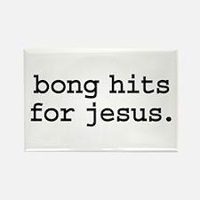 bong hits for jesus. Rectangle Magnet