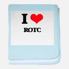 I Love Rotc baby blanket