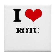 I Love Rotc Tile Coaster