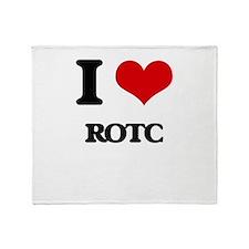 I Love Rotc Throw Blanket