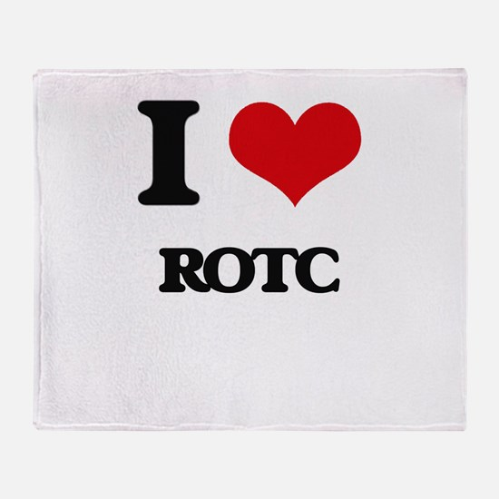 I Love Rotc Throw Blanket