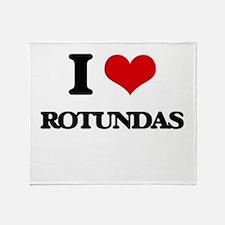 I Love Rotundas Throw Blanket