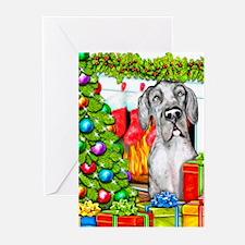 Great Dane Stockings Mer Greeting Cards (Pk of 10)