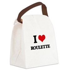I Love Roulette Canvas Lunch Bag