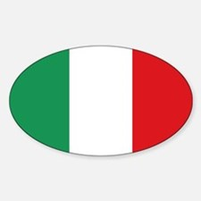 Italian flag Sticker (Oval)