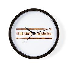 Drum Stick Wall Clock