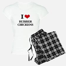 I Love Rubber Chickens Pajamas