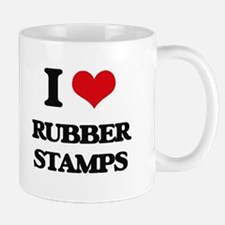 I Love Rubber Stamps Mugs