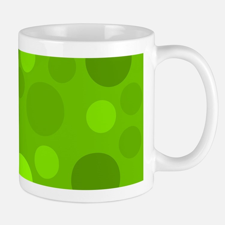 Green Lime Green Light Dark Modern Dots Mug