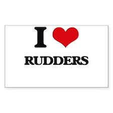 I Love Rudders Decal