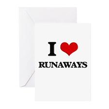I Love Runaways Greeting Cards