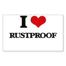 I Love Rustproof Decal
