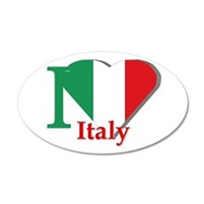 I love Italy 35x21 Oval Wall Decal