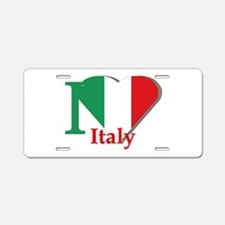 I love Italy Aluminum License Plate