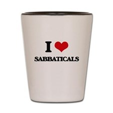 I Love Sabbaticals Shot Glass