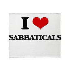 I Love Sabbaticals Throw Blanket