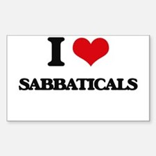I Love Sabbaticals Decal