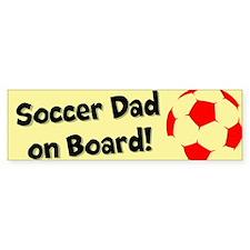 SoccerDadOnBoard Bumper Bumper Sticker