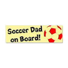 SoccerDadOnBoard Car Magnet 10 x 3