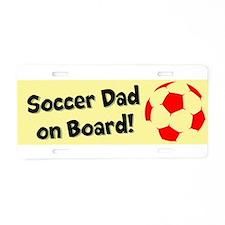 SoccerDadOnBoard Aluminum License Plate
