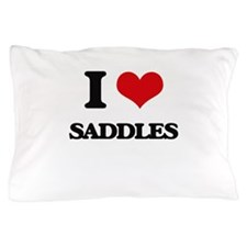 I Love Saddles Pillow Case