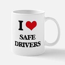 I Love Safe Drivers Mugs