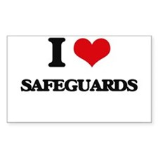 I Love Safeguards Decal