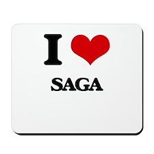 I Love Saga Mousepad