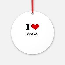 I Love Saga Ornament (Round)