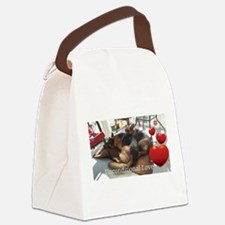 Unconditional Love Canvas Lunch Bag