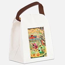 Nautical Carousel Canvas Lunch Bag