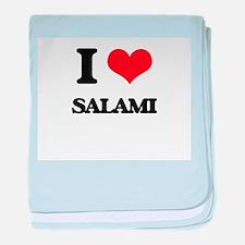 I Love Salami baby blanket