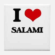 I Love Salami Tile Coaster