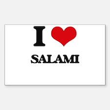 I Love Salami Decal