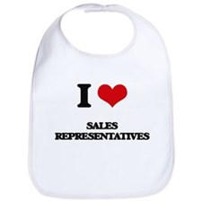 I Love Sales Representatives Bib