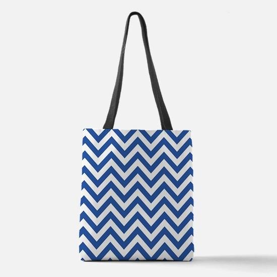 Sapphire Blue Chevron Pattern Design Polyester Tot