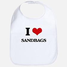 I Love Sandbags Bib