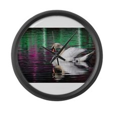 Swans Large Wall Clock