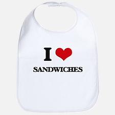 I Love Sandwiches Bib