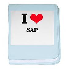I Love Sap baby blanket