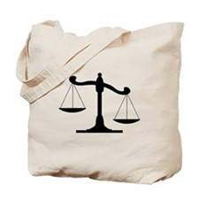 Scale Of Justice Tote Bag